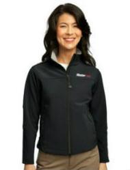 Ladies Glacier Black Soft Shell Jacket