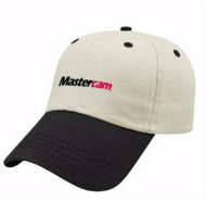 Mastercam® Cotton Twill Baseball Cap in Putty and Black