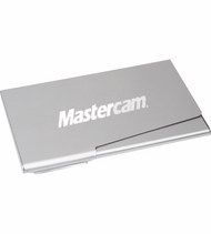 Aluminum Business Card Holder with Laser Engraved Mastercam logo