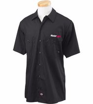 Dickies Men's Industrial Black Short-Sleeved Work Shirt
