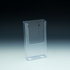 Styrene Wall Mount Tri-Fold Brochure Holder