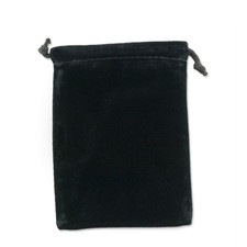 Drawstring Pouch in Black
