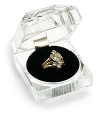 Clear Crystal Ring Box