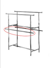 Clamp-On Hangrails for Double-Bar Rack