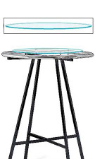 """Glass Topper for 36"""" Round Rack"""