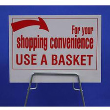 Shopping Basket Rack Sign