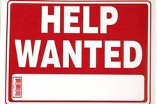 "9"" x 12"" ""HELP WANTED"" Sign"