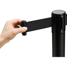 Retractable Stanchion in Black