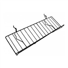 Sloped Wire Shelf in Black