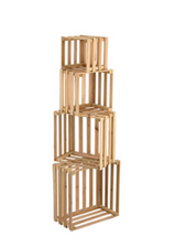 4pc Nested Crates
