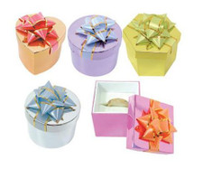 Metalic Decorative Ring Box -72 count