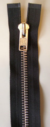 #10MAM Aluminum Chap Zipper- Black