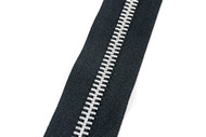 #10MAM YKK® Aluminum Tooth Zipper Chain, Black (91100ABK)
