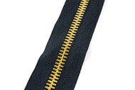 #10MGM YKK ® Brass Tooth Zipper Chain, Black (91100BBK)