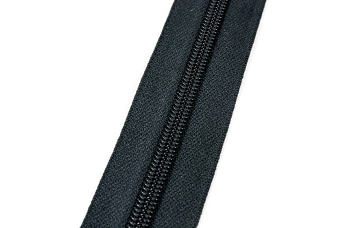 #8CF YKK® Nylon Self-Correcting Coil Zipper Chain, Black (91080CBK)