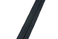 #3CF YKK® Nylon Self-Correcting Coil Zipper Chain, Black (91030CBK)