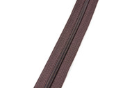 #3CF YKK® Nylon Self-Correcting Coil Zipper Chain, Brown (91030CSB)