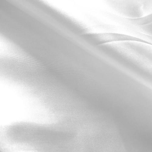 Poly China Silk Lining - White