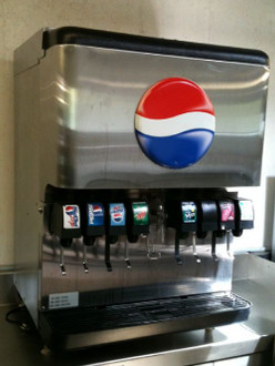 8 FLAVOR SODA & ICE DISPENSER