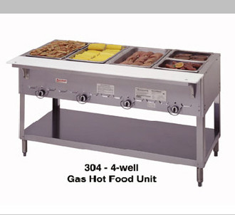 4 BAY GAS STEAMTABLE