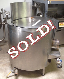 "Used-Bagel kettle, high efficiency 2-ring burner, heavy gauge stainless steel, 40 gallon capacity, removable tanke, Insulated with 3ƒ?? mineral wool, Removable perforated tray, 1-1/2ƒ?? DIA stainless steel drain, 6ƒ?? ƒ?? 7-1/2ƒ?? adjustable legs, Meets ETL standards 175,000 BTU, set for gas, 35"" diameter x 38""H(+12"" for shield)"