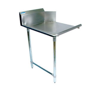 "NEW-Clean Dishtable, straight design, 36""W x 30-7/8""D x 46-1/4""H, comes in right or left operation, 18/304 stainless steel top, 10""H backsplash, raised rolled edge on front & side, galvanized steel legs & side bracing, adjustable high-impact corrosion-resistant feet, NSF"