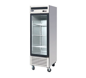Freezer Merchandiser, one-section, self-contained refrigeration, 21.0 cu. ft. capacity, -8° to -0°F temperature range, (1) locking hinged glass door, (4) adjustable shelves, ventilated refrigeration, LED interior lighting, automatic evaporation, digital temperature control, electric defrost, stainless steel interior & exterior, galvanized steel back, bottom mounted refrigeration, 650 watts, 115v/60/1-ph, 7.6 amps, 1/2 HP, cETLus, ETL, CE, ENERGY STAR®
