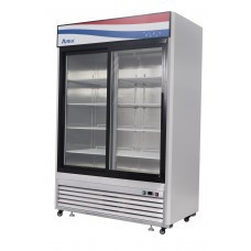 Freezer Merchandiser, two-section, self-contained refrigeration, 47.1 cu. ft. capacity, -8?ø to -0?øF temperature range, (2) locking hinged glass doors, (8) adjustable shelves, ventilated refrigeration, LED interior lighting, automatic evaporation, digital temperature control, electric defrost, stainless steel interior & exterior, galvanized steel back, bottom mounted refrigeration, 950 watts, 115v/60/1-ph, 9.6 amps, 3/4 HP, cETLus, ETL, CE, ENERGY STAR??