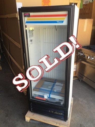 """Freezer Merchandiser, one-section, -10?ø F, (3) shelves, laminated vinyl exterior, white interior with stainless steel floor, (1) triple-pane thermal glass hinged door, LED interior lights, 1/3 HP, 115v/60/1, 7.4 amps, cord, NEMA 5-15P, (depth does not include 1"""" for rear bumpers), cULus, CE, NSF, MADE IN USA"""