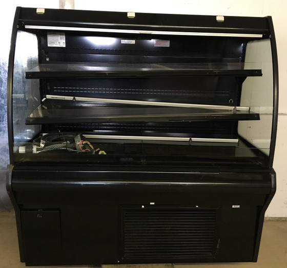"""HUSSMANN IM-04-15-S MEDIUM TEMP SELF SERVICE MULTI-DECK SELF CONTAINED OPEN FRONT MERCHANDISER.  48"""" X 36"""" X 64"""" TALL.  208/240V 1 PHASE.  3 MATCHING CASES AVAILABLE (2) 4' CASES AND (1) 8' CASE. NBm."""