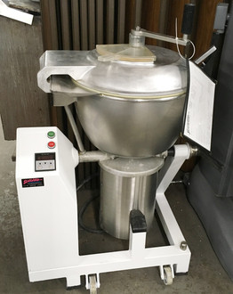 "Model VCM44A/1 vertical cutter/mixer is a high-performance, high-volume and versatile machine that quickly and conveniently chops, blends, mixes and purees vegetables, fruits, cheeses and virtually any other product. The 47-quart capacity stainless steel, locking/tilt bowl rotates forward just past 90° to facilitate product removal and cleaning. Push button controls and 99-minute digital timer permit continuous, jog and timed operation. A safety interlock shuts off power to the unit if the bowl cover is opened during machine operation.   ELECTRICAL SPEC: 208V/60 hz/3 phase  APPROXIMATE DIMENSIONS: 32"" x 24"" x 47"""
