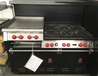 WOLF CH-6-1829-HB 6 BURNER WITH GRIDDLE/ BROILER