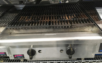 "(QUICK-SHIP) Star-Max® Charbroiler, gas, countertop, 24"" W, cast iron 40,000 BTU burners with adjustable manual controls every 12"", heavy stainless steel radiants, welded steel frame with stainless steel top and front, aluminized steel sides, cast iron broiling grates, stainless steel water pan, splash guard & grease trough, 4"" legs, 80,000 BTU, cULus, UL EPH (ships Natural gas includes LP converstion kit)"