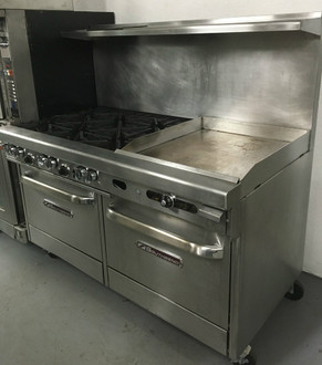 SOUTHBEND 4604AA-2TR 6 BURNERS, 2' GRIDDLE, DOUBLE CONVECTION OVENS
