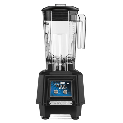 TORQ 2.0 Bar Blender, countertop, two-speed, 48 oz. capacity stackable BPA free co-polyester container, vinyl lid with removable center cap, toggle switch operation, user-replaceable heavy duty stainless steel blade with solid blending assembly, heavy duty base, 2HP, 1.5kW, 15.0 amps, 120v/50/60/1-ph, cETLus, NSF, Made in USA
