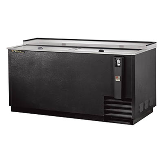 Bottle Cooler, flat top, (22cs) 12oz bottles or (32.5cs) 12oz can capacity, stainless steel counter top & (2) lids, barrel locks standard, well design, galvanized interior, black vinyl exterior, (4) PVC coated adjustable bin dividers, removable bottle cap opener & cap catcher, 1/3 HP, 115v/60/1, 8.6 amps, NEMA 5-15P, UL, CSA, UL EPH Classified, CE, MADE IN USA