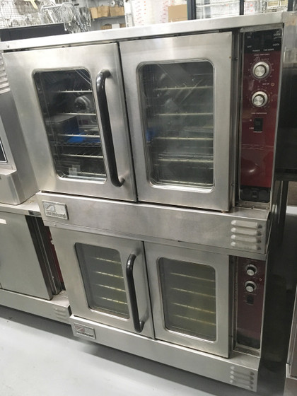 """MarathonerGold Convection Oven, gas, double-deck, standard depth, solid state controls, energy savings system """"NRG"""", with 6"""" high legs, stainless steel front, sides, top, and rear jacket, 180,000 BTU (reference annual operating cost savings document) (Note: Qualifies for Southbend's Service Firstƒ?› Program, see Service First document for details)"""