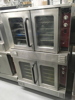 "MarathonerGold Convection Oven, gas, double-deck, standard depth, solid state controls, energy savings system ""NRG"", with 6"" high legs, stainless steel front, sides, top, and rear jacket, 180,000 BTU (reference annual operating cost savings document) (Note: Qualifies for Southbend's Service Firstƒ?› Program, see Service First document for details)"