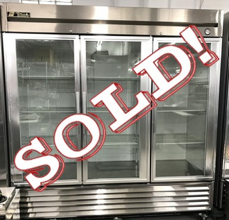 TRUE T-72G GLASS DOOR REFRIGERATOR - LIKE NEW!