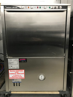 "Dishwasher, undercounter, 24-3/16""W, low temperature chemical sanitizing, approximately (24) racks/hour, (1.2) gals of water per rack, universal timer,  built in chemical pumps, auto fill, stainless steel wash/rinse pump, cabinet finished in stainless steel, 1 HP wash pump, 115v/60/1-ph, 13.2 amps, ENERGY STAR??, cETLus, ETL-Sanitation NB."