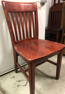 mahogany library chair, library chair, wood library chair, mahogany wood library chair