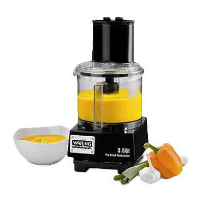 "Commercial Batch Bowl Food Processor, 3.5 quart, vertical chute feed design, LiquiLockƒ?› Seal System, holds liquids in the bowl & locks S blade in the bowl while pouring, sealed LiquiLockƒ?› polycarbonate batch bowl,  includes: WFP14S1 serrated sealed S-Blade, WFP143 5/64"" grating disc, WFP14S10 adjustable slicing disc, WFP14S11 sealed whipping disc, WFP14S12 reversible shredding disc, WFPSCK10 detachable disc stem (for WFP143 & WFP149) WFP14S9 detachable disc stem (for WFP14S10 & WFP14S12), 1 HP motor, 6 amps, 120v/60/1-ph, UL, ETL-Sanitation"