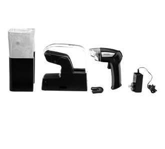 Vacuum Sealing System, pistol style handheld, enclosed storage & charging base, rechargeable battery, microwave & boil safe, seal up to 50 bags with one full charge, includes (25) 1 quart & (25) 1 gallon storage bags, 120v/60/1-ph, CEC, ETL-Sanitation