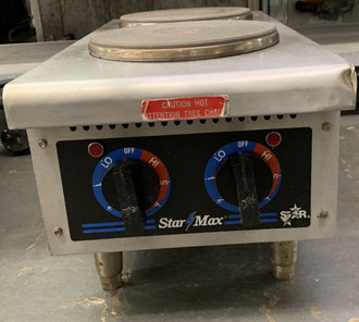 STAR MAX 502FF 2 BURNER HOTPLATE