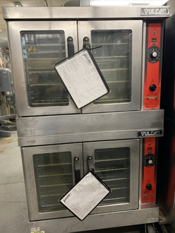 "Convection Oven, gas, single-deck, standard depth, solid state controls, electronic spark igniter, 60 minute timer, (5) nickel plated racks, 25-3/4"" high legs, stainless steel front, top and sides, stainless steel door with window, 50,000 BTU, NSF, CSA Star, CSA Flame, ENERGY STAR??"