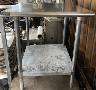 USED STAINLESS STEEL WORK TABLE 30""