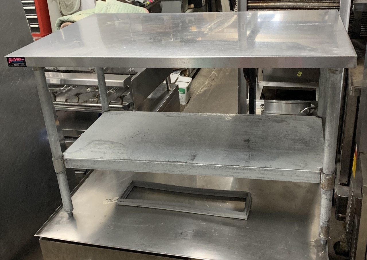 Used Stainless Steel Tables >> Stainless Steel Table W Under Shelf 48 Gillette Restaurant Equipment