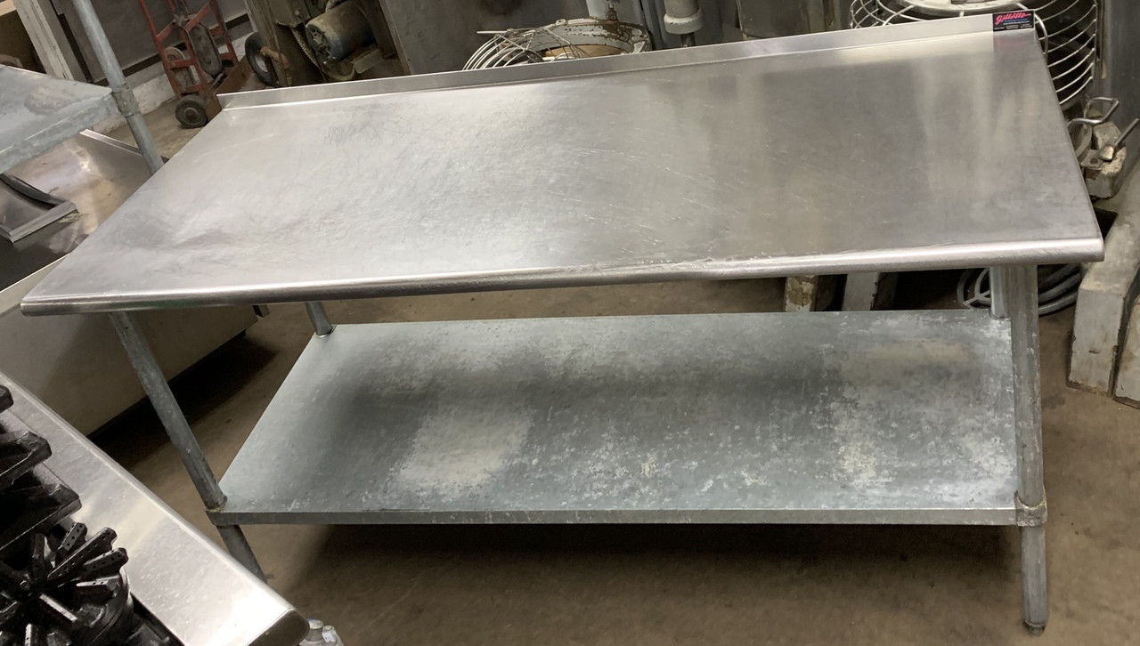 Used Stainless Steel Tables >> Stainless Steel Table W Under Shelf Back Splash