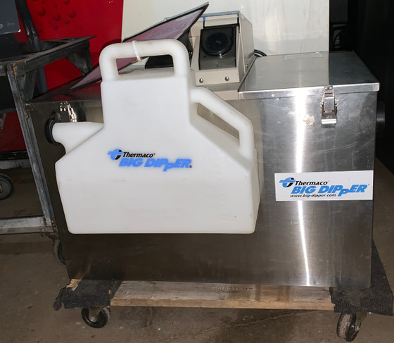 USED, Big Dipper W-350-IS Automatic Grease Trap. 115V. 4.5Amps. 35 GPM.  FULLY RECONDITIONED: new drive motor and new grease wheel scraper