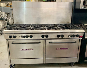 SOUTHBEND X360DD 10 BURNER RANGE WITH 2 STANDARD OVENS -NATURAL GAS (GXS112)